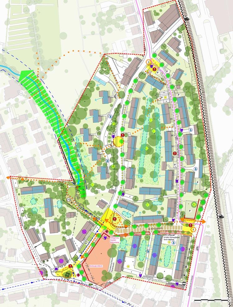 Städtebaulicher Rahmenplan Quartiersentwicklungsplan Unterkrone, Im Mühlenwinkel, Hermannstraße, Witten - Planquadrat Dortmund
