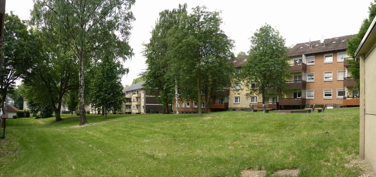 Unterkrone Innenhof Quartiersentwicklungsplan Unterkrone, Im Mühlenwinkel, Hermannstraße, Witten - Planquadrat Dortmund