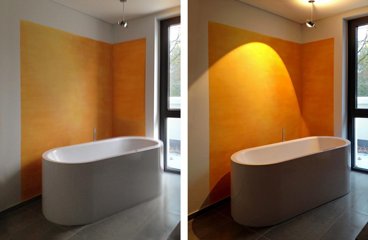 Abbildung 523-527k Wand- und Farbgestaltung einer Penthouse-Wohnung - Planquadrat Dortmund