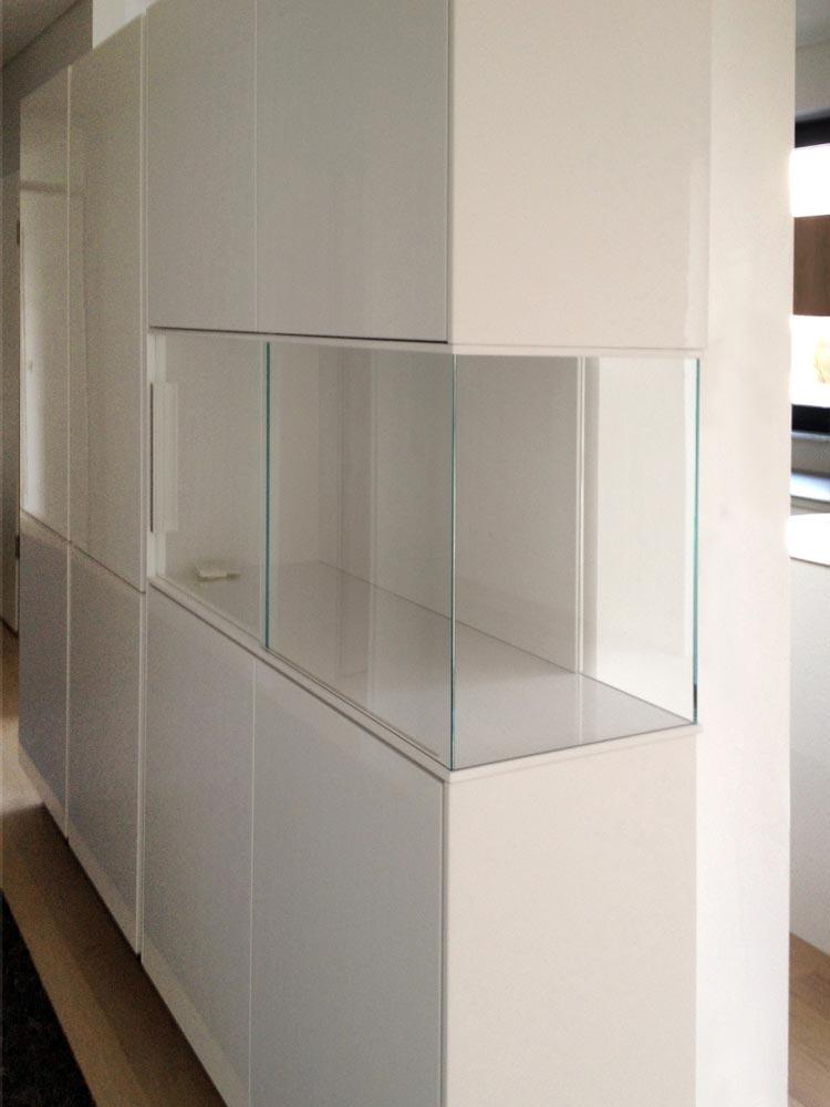 Abbildung 608a Entwurf eines Glas-Vitrinenschranks - Planquadrat Dortmund