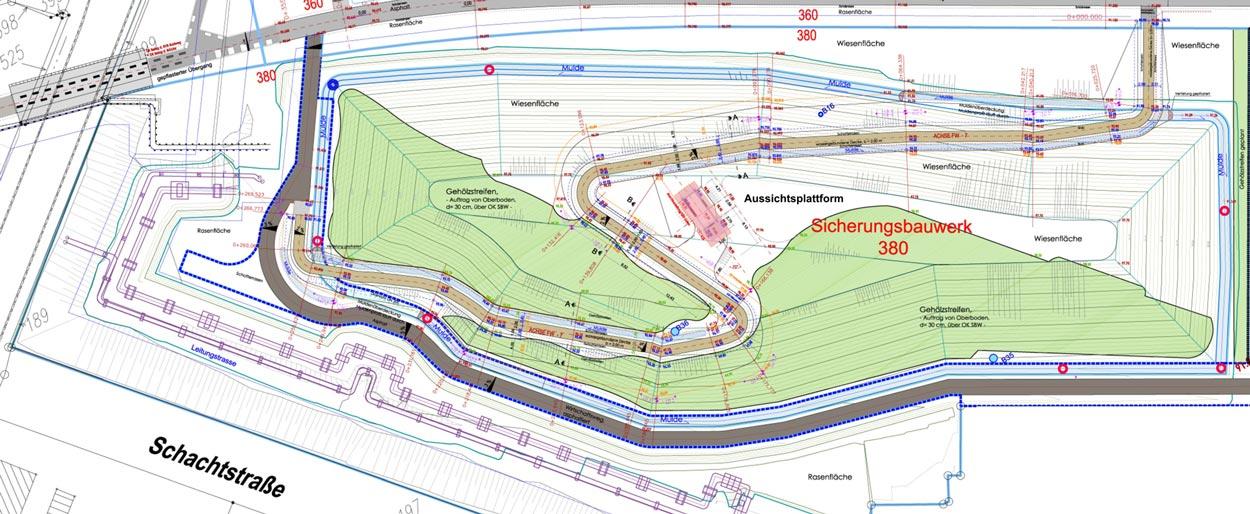Aussichtspunkt Umfeld Freiraumgestaltung Ehemalige Schachtanlage Schlägel & Eisen 3/4/7 Herten - Planquadrat Dortmund