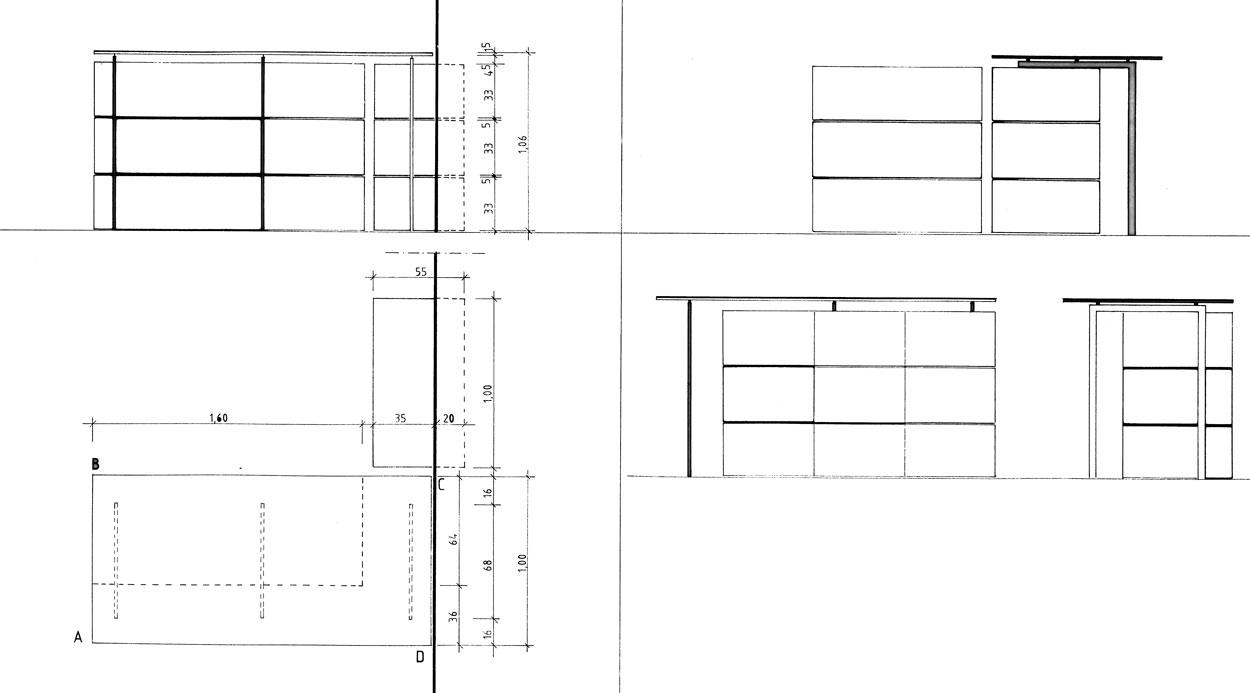 Kasse Entwurf von Präsentationsmöbeln - Planquadrat Dortmund