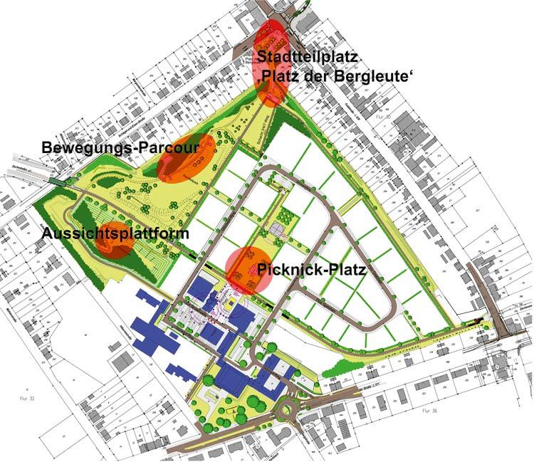 Schwerpunkte Freiraumgestaltung Ehemalige Schachtanlage Schlägel & Eisen 3/4/7 Herten - Planquadrat Dortmund