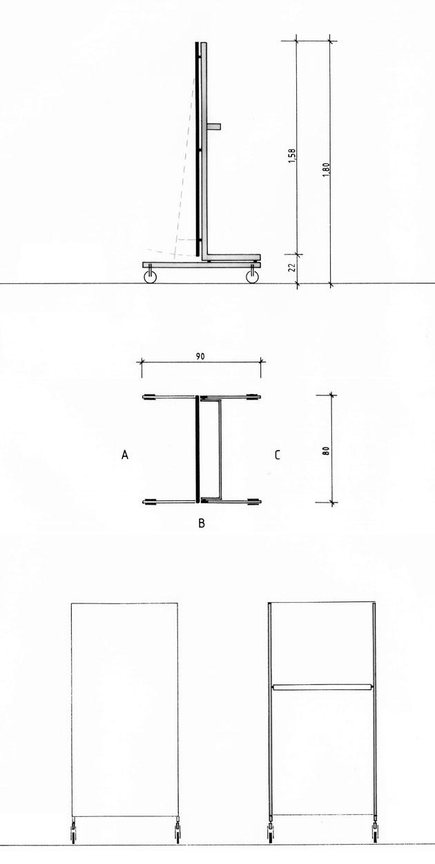 Spiegel Entwurf von Präsentationsmöbeln - Planquadrat Dortmund