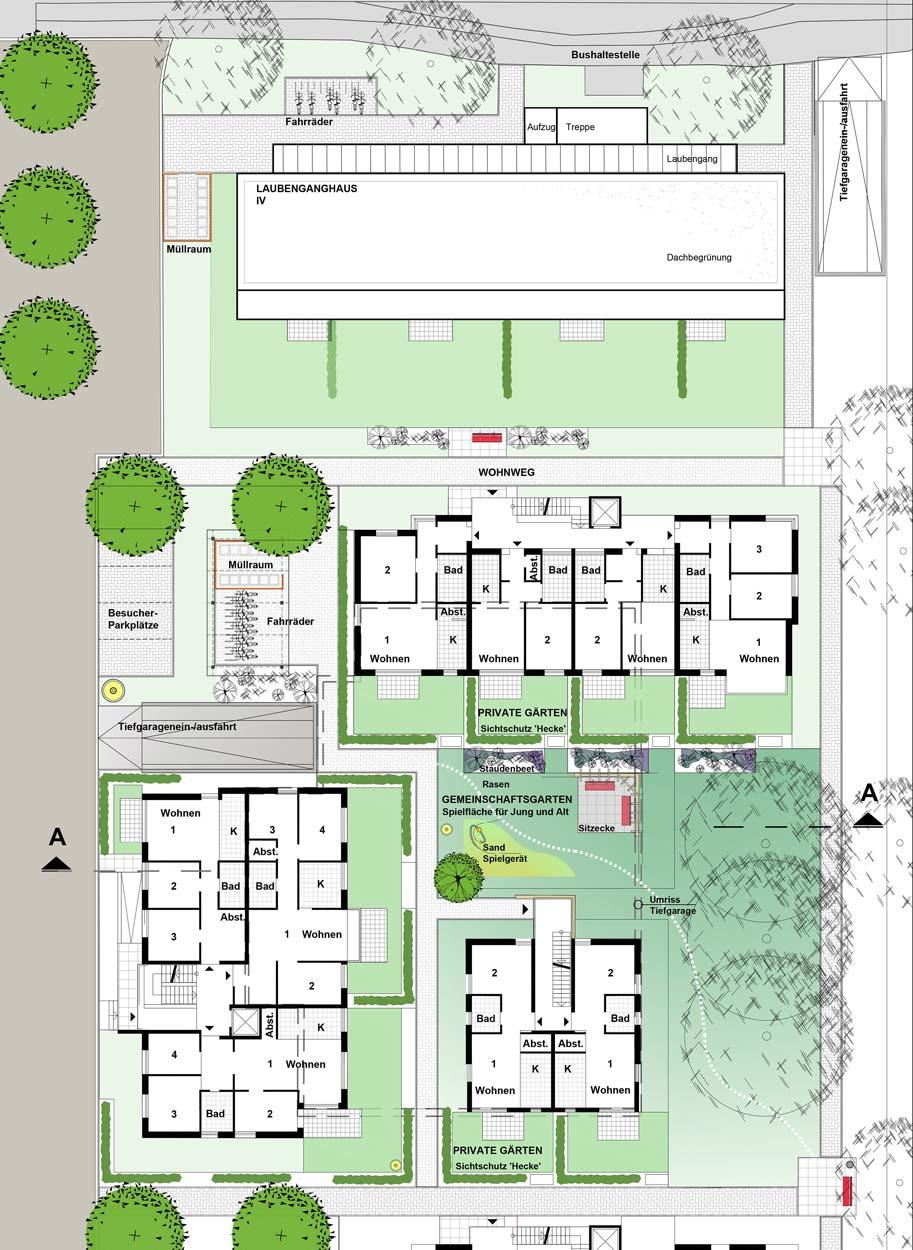 Wohnquartier Städtebaulicher Ideenwettbewerb Bebauung am Rosenweg – Stadt Schwerte – Planquadrat Dortmund